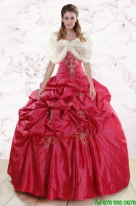 New Style Best Strapless Appliques Quinceanera Dresses
