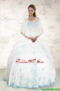 Wonderful Strapless Appliques Best Quinceanera Dresses in White
