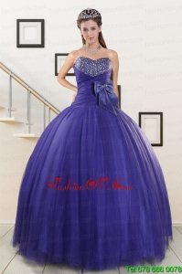 Best Elegant Sweetheart Quinceanera Dresses with Bowknot