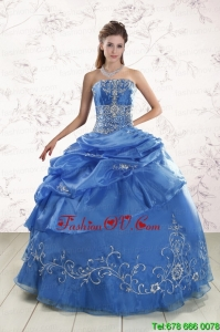 Appliques Lovely Royal Blue Quinceanera Dresses