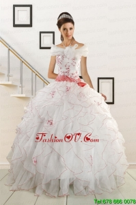 Appliques and Belt 2015 Lovely Quinceanera Dresses