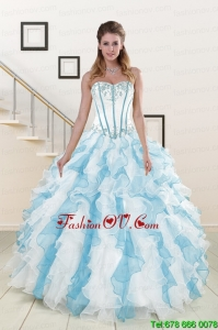 Appliques and Ruffles Lovely Quinceanera Dresses in Multi-color