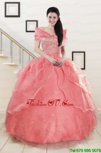 Designer Beading Ball Gown Sweetheart Quinceanera Dresses