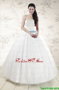 Lovely White Quinceanera Dresses with Appliques