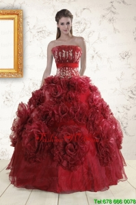 Pretty Quinceanera Dresses with Hand Made Flowers for 2015