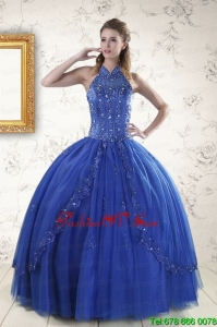 Luxurious Royal Blue Sweet Sixteen Dresses with Appliques and Beading for 2015