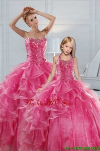 Hot Pink Sweetheart Beading Princesita Dresses
