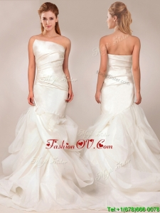 Exquisite Mermaid Asymmetrical Wedding Dresses with Ruffles Layers