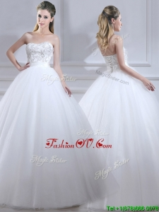 Popular Ball Gown Wedding Dresses with Beading and Sashes
