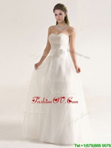 Fashionable Beaded and Sashes Wedding Dresses with Empire