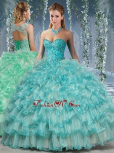 Best Big Puffy Quinceanera Dress with Beading and Ruffles