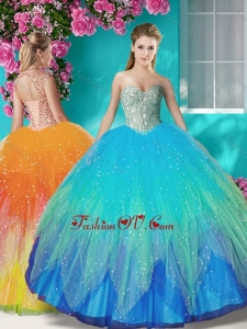 Fashionable Beaded and Applique Quinceanera Dress in Multi Color