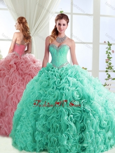 Exclusive Beaded Really Puffy Detachable Quinceanera Skirt in Rolling Flowers