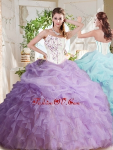 Fashionable Asymmetrical Visible Boning Beaded New style Quinceanera Dresses with Ruffles and Bubbles