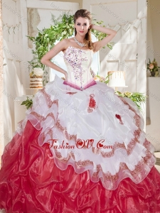 Popular Big Puffy Bubble Beaded and Ruffled Modern Quinceanera Dresses with Asymmetrical Neckline