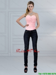 The Most Popular Baby Pink Sweetheart Beaded Corset for 2015