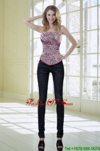 Fashionable Leopard Corset in Multi-color