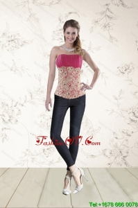Perfect Beading Corset in Hot Pink