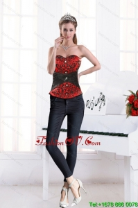 2015 Multi Color Sweetheart Beading Corset With Appliques in High Quality