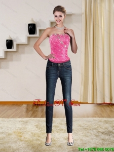 The Super Hot Beading Corset in Hot Pink