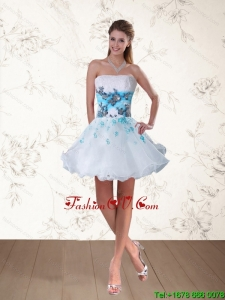 Strapless Multi Color Prom Dress with Embroidery and Beading