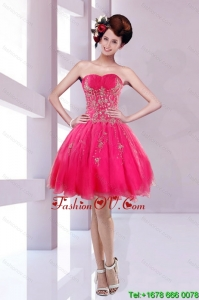 2015 New Style Sweetheart Prom Dress with Embroidery