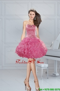 Gorgeous Ball Gown Pink Sweetheart Beading Prom Dresses