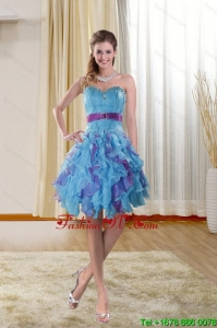 Sweetheart 2015 Prom Gown with Ruffles and Beading