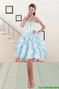 Sweetheart Prom Gown with Embroidery and Ruffles