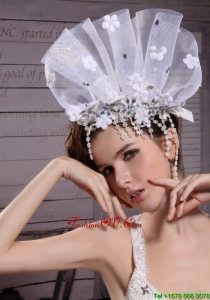 Exclusive Tulle/ Rhinestones Hand Made Flowers Hair Combs
