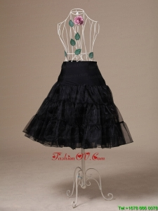 Brand New Black Organza Tea Length Wedding Petticoat