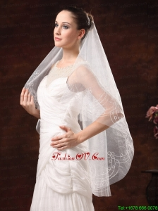 Fairy Embroidery Organza Wedding Veil