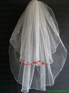 Beading Tulle Two Layers Wedding Veil
