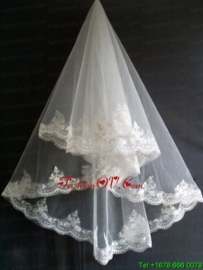Lace Appliques Tulle Beautiful Wedding Veil