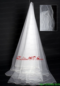 Multilayer Organza Modest Bridal / Wedding Veil