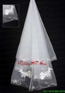 Organza Lace Applique Edge Bridal / Wedding Veil