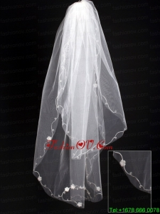 Organza Scalloped Edge Bridal Veil