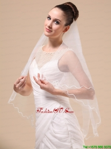 Royal Discount Tulle Ribbon Edge Bridal Veil For Wedding