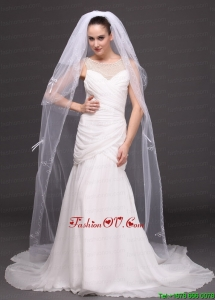 Three-tier Tulle Embroidery Bridal Veil