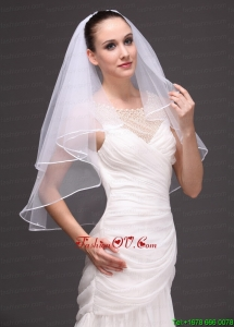Two-tier Tulle Ribbon Edge Wedding Veil On Sale