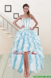 2015 Most Popular Sweetheart Cheap Dresses Gown with Appliques and Ruffles
