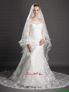 Beading Tulle Graceful Wedding Veil