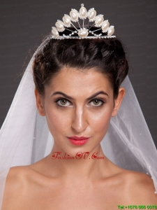 Exclusive Tiara With Beading and Pearl Decorate