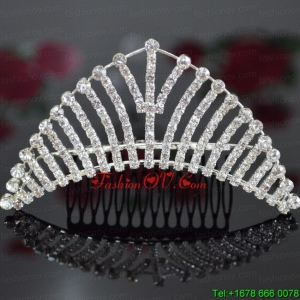 Lovely Alloy With Rhinestone Tiara