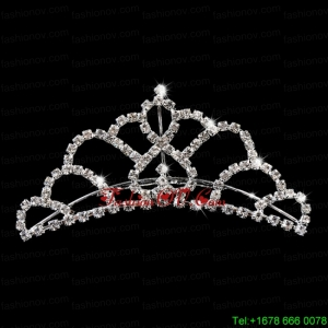 Princess Tiara With Delicate Rhinestone Accents