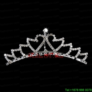 Simple Alloy With Rhinestone Flower Girl Tiara