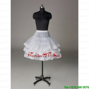 Custom Made Organza Mini Length Prom Petticoat with Lace