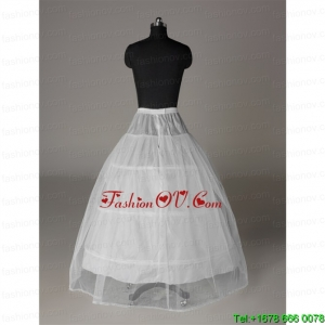 Modest Organza Ball Gown Floor Length White Petticoat