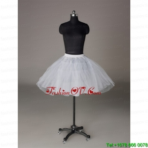 Most Popular Organza Ball Gown Mini Length Petticoat in White