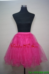 Unique Organza Mini Length Prom Petticoat in Hot Pink